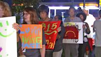 Fast-food workers stage protest for higher pay