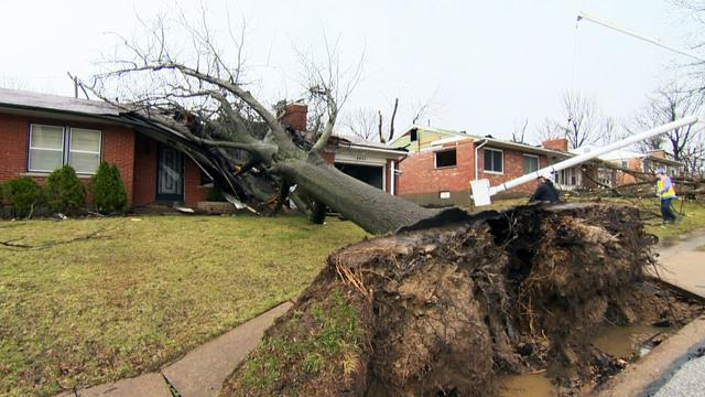 Severe storms hammer nation's midsection