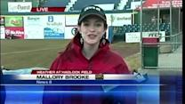 Meteorologist Mallory Brooke gets special visit during forecast