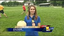 Ava tries Gaelic football, learns about hurling, camogie
