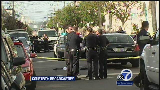 3 detained following chase in SF officer shooting