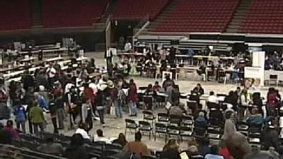 Homeless Get Winter Help At Amway Arena