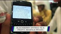 BlackBerry swings to profit; GameStop takes a hit; Yahoo rewards shareholders