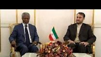 Annan meets Iranian officials over Syria