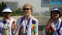 International Women Activists Walk Across Koreas' DMZ