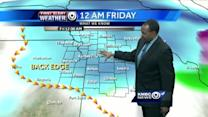 Storm system moves out, frigid air moves in