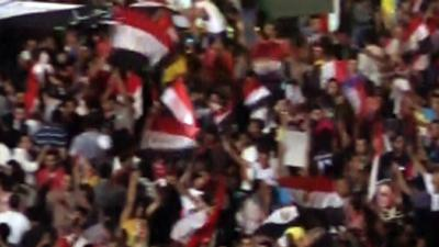 Raw: Massive Celebrations in Cairo