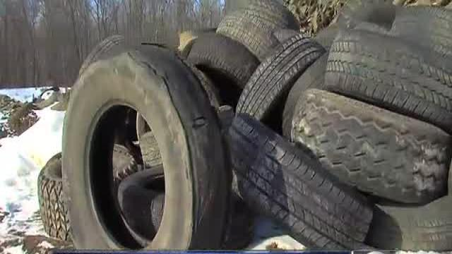Tire dumping in Detroit