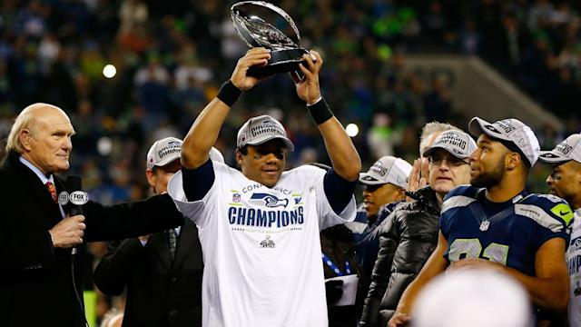 Seattle Seahawks Arrive in New York for Super Bowl
