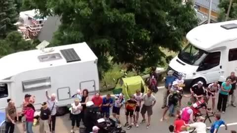 Fan Pays Price at Tour de France