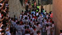 Raw: Running of Bulls Opens, 1 Person Gored
