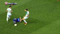 Red card for diving