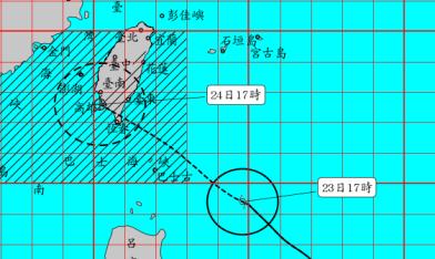 暴風圈增大 陸警擴及彰化以南
