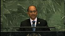Myanmar president pays tribute to Aung San Suu Kyi