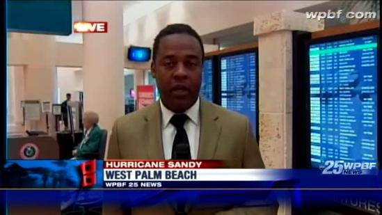 Flight cancellations keep PBIA quiet