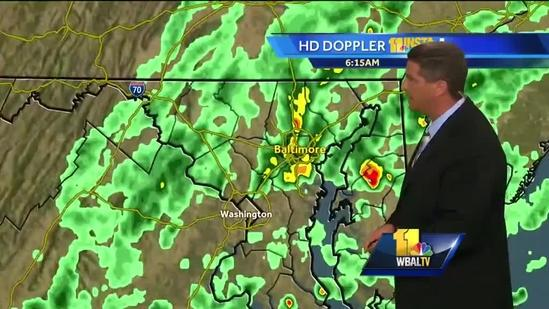 Showers, storms expected throughout day