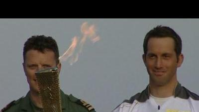 British yachtsman first Olympic torch bearer