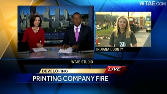 Fire tears through Creps United Publications