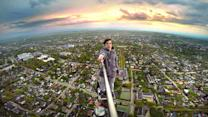 Fearless Teens Climb 600ft TV Tower