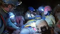 Raw: Cave Explorer Rescued in Germany