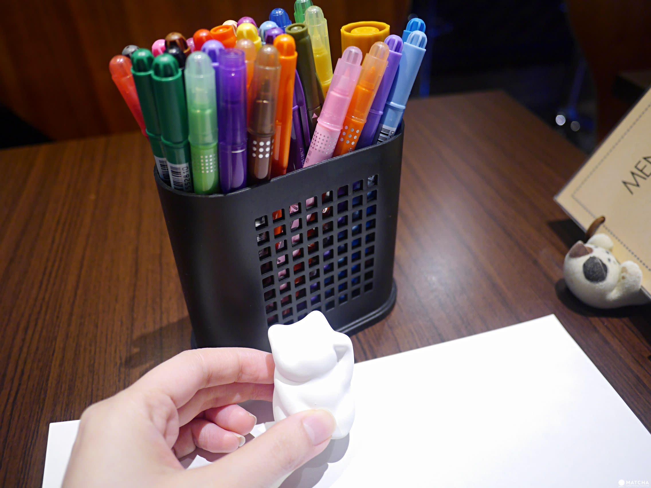 咖啡貓衛門繪製招財貓水性筆