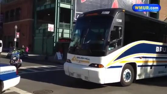 Raw Video: Red Sox leaving Fenway Park