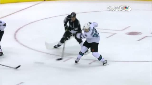 Logan Couture strikes for the PP goal