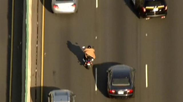 TV news chopper helps police catch man after motorcycle chase