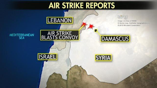 Israeli military jets reportedly bomb Syrian convoy