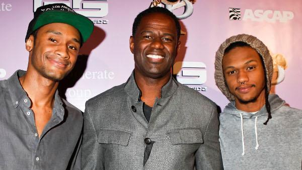 Only on OMG! Brian McKnight and his sons Brian Jr. and Niko