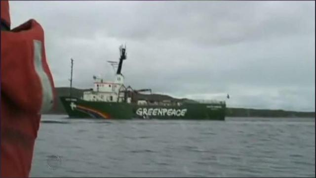 Greenpeace Ship In Russian Arctic Towed To Port