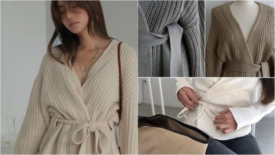 韓拍新爆款「綁帶針織」,忽冷忽熱的冬天必須有!