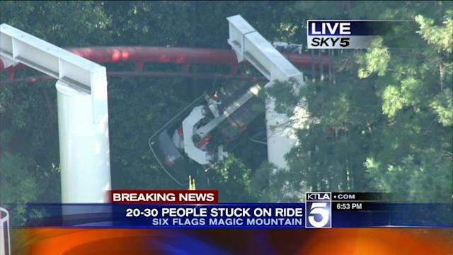 4 Injured, Dozens Trapped on Ninja Roller Coaster at Magic Mountain