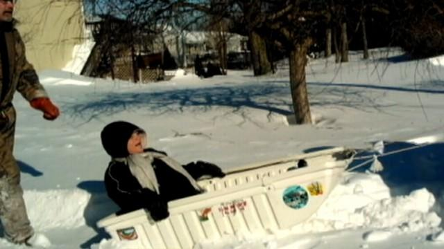 Pregnant Woman Rushed to Hospital By Sled