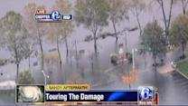 Chopper 6 HD over flooding in Bristol, Pa.