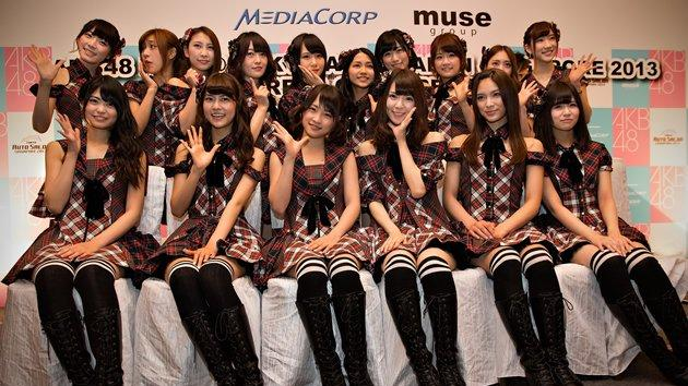 Japanese girl group AKB 48 performs live in Singapore