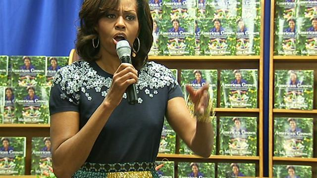First lady signs books at Politics and Prose