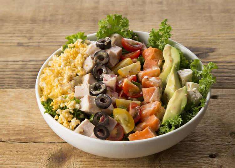 FARMER'S COBB沙拉佐有機龍舌蘭沙拉醬1350円(早餐時段價格)