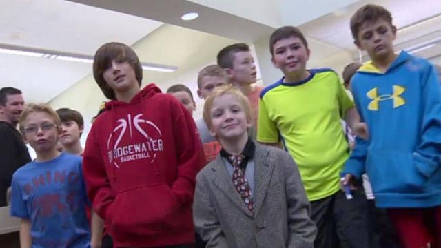 Band of Fifth Graders Stick Up For Dapper Kindergartner Being Bullied