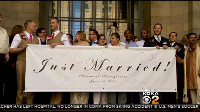Mayor Peduto Officiates As Same-Sex Couples Get Hitched Downtown