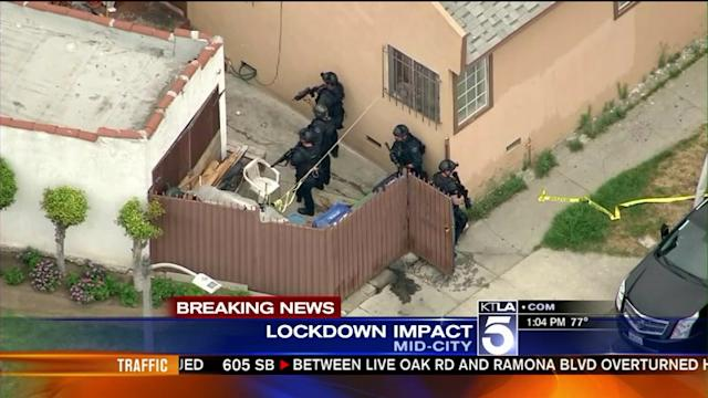 Streets Shut Down in Search for Gunman Who Ambushed LAPD Detectives