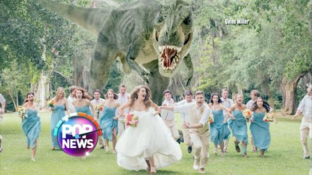 T-Rex Attacks Bridal Party in Viral Wedding Photo