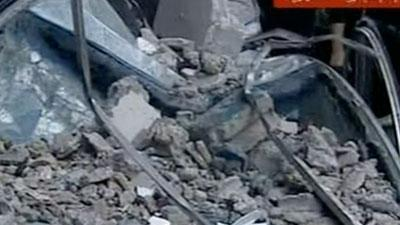Raw: Syrian TV says blast near Damascus kills 10