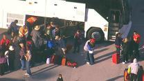 Aerials of Triumph passengers arriving in Galveston