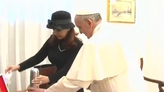Argentine President meets with Pope Francis