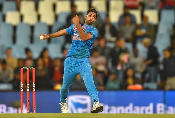 Bhuvneshwar Kumar struggled in the death overs