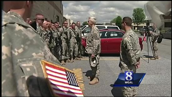 Pa. National Guard troops deployed from Harrisburg International Airport
