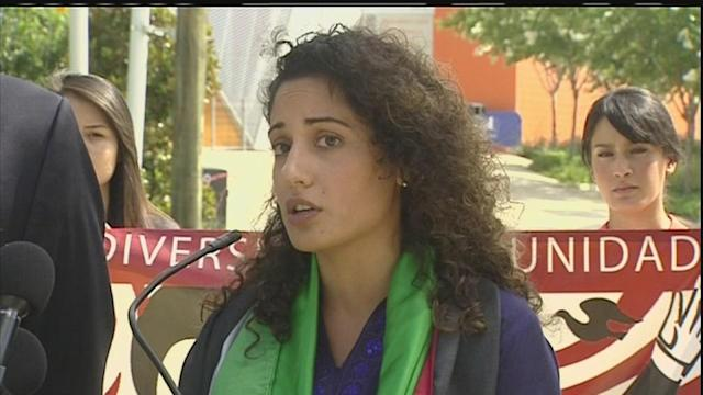 Woman sues after Palestinian flag flap at soccer game