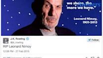 These Celebrities' Reactions To Leonard Nimoy Will Tug At Your Heartstrings