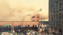 Explosion Levels Building in New York